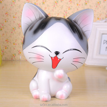custom make cute resin cat statue wholesales/polyresin kitten figurine for gift/custom cute cat figurine in china supplier