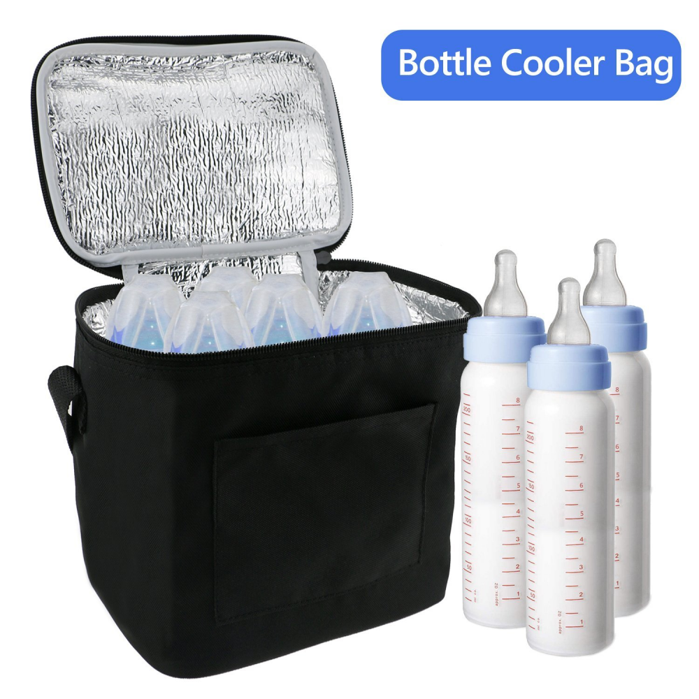 Breast Milk Baby Bottle Cooler Bag For Insulated Breastmilk Storage w/ Air Tight Design to Lock in the Cold & Preserve Important