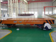 Battery operated Material Handling Rail material Transfer Flat Cart/Battery Electric Transfer Car