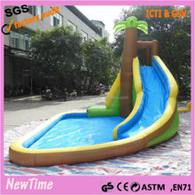 Inflatable bouncer with slide,inflatable pool slide for sale,commerical inflatable slide
