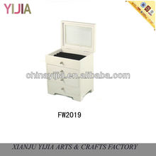 New white drawer jewelry box home decor gift lucky doll cheap jewelry cute display stand