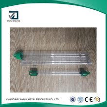 Top quality PP material transparent color plastic packing pipe or tube for the packing