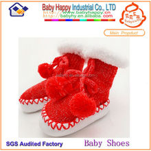 MOQ 72 /mix 6 COLOR winter baby boots baby socks like shoe