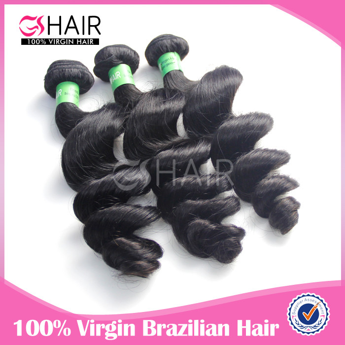 Hot selling brazilian loose wave hair extensions new york