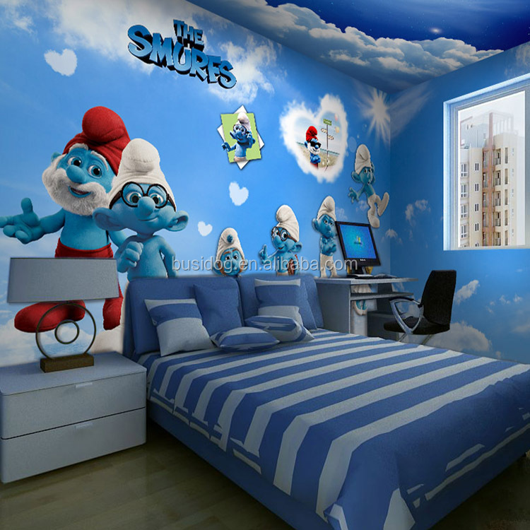 3d Cartoon Characters wallpapers for Kids Room decoration Non woven wallpaper