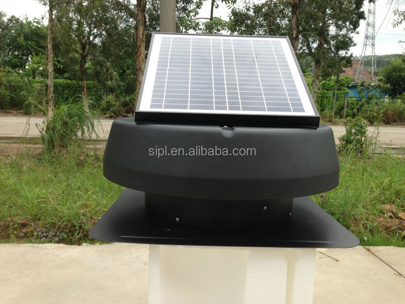 Solar vent fan, Round Adjustable Solar Panel Poultry Chicken House Ventilation Fan