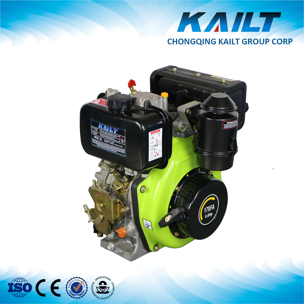 170F 178F 186F Air cooled engine 6HP diesel engine for sale