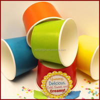 Cute fancy small 3oz paper ice cream cup
