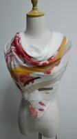 Square korean scarf with soft handfeel