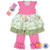 Hot Sale Boutique Spring Toddler Girls Clothing Latest Children Frocks Designs Baby Clothes 2016