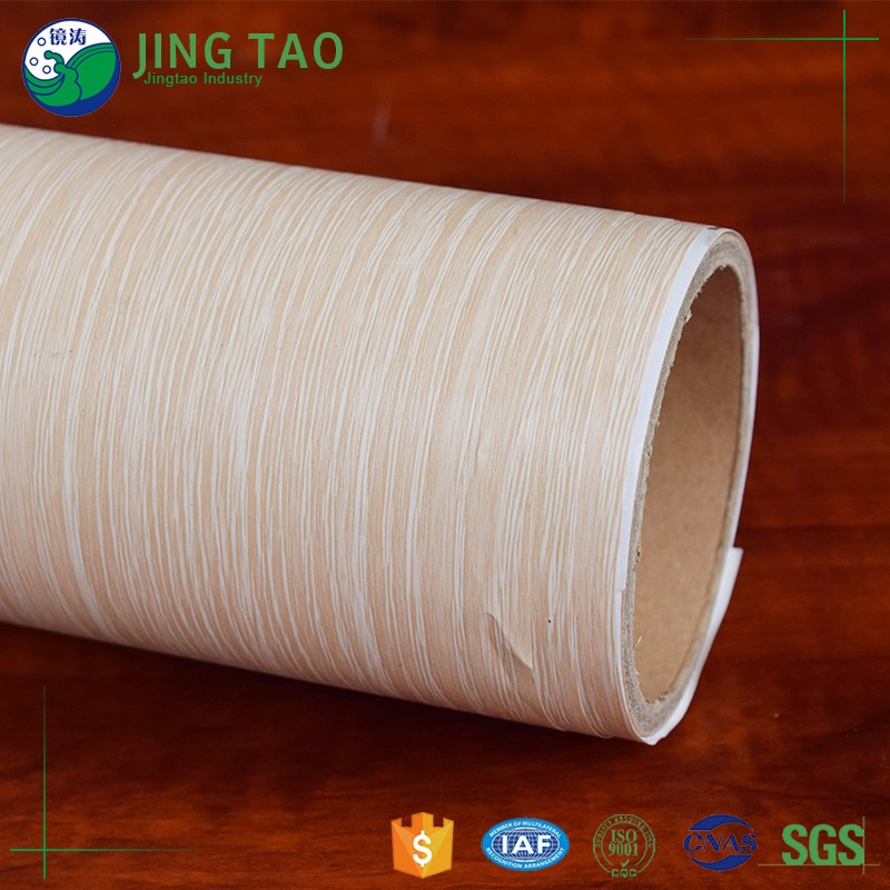 Durable pvc protective wood grain film