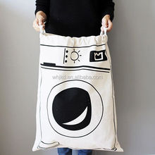 New extra large best washable cotton canvas clothing drawstring laundry bags