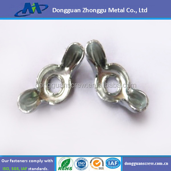 Hardware zinc plated butterfly lock wing nut