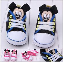 wholesale baby boys and girls Minnie and Mickey shoes child shoe newborn baby walking shoe