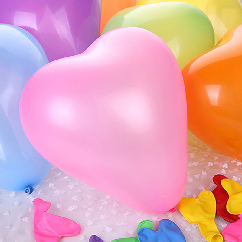 custom heart shaped different size latex balloons