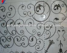 forged steel gate fence ornaments scrolls