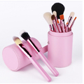 Cute makeup brushes colorful facial 12piece makeup brush set for girls