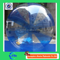 Half blue inflatable water walking ball Dia 2 m funny walking bubble ball water for kids / adult