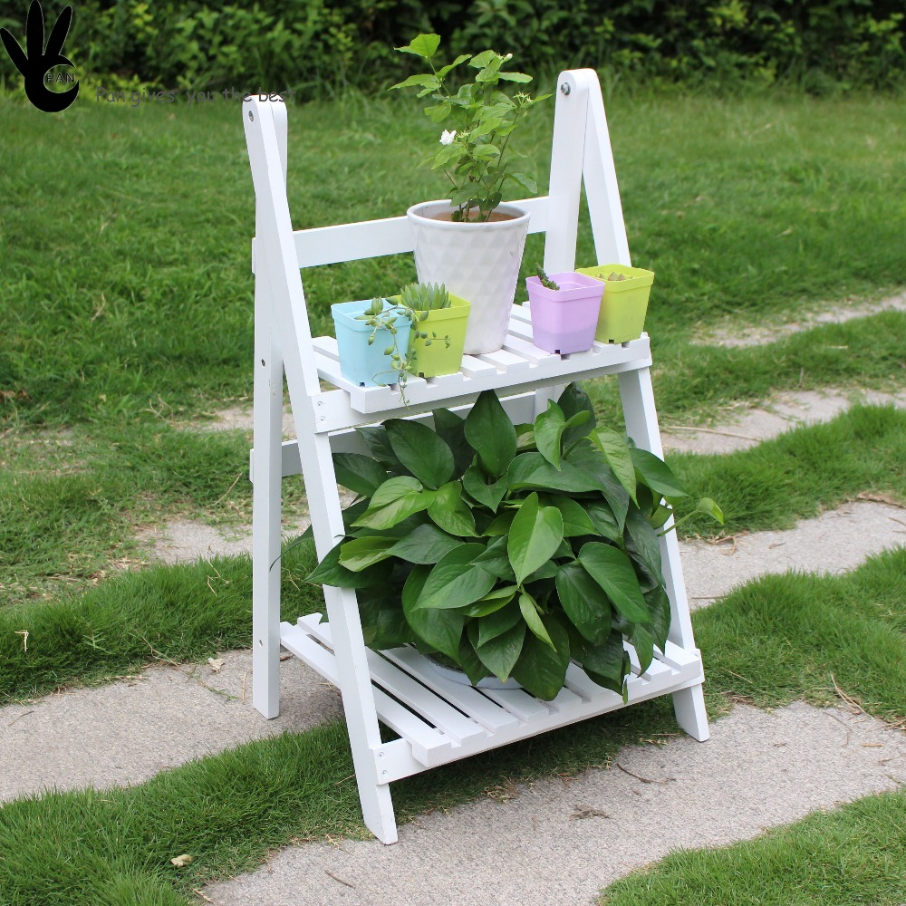 Garden Wood Flower Rack, Flower display Shelf, Plant Stand
