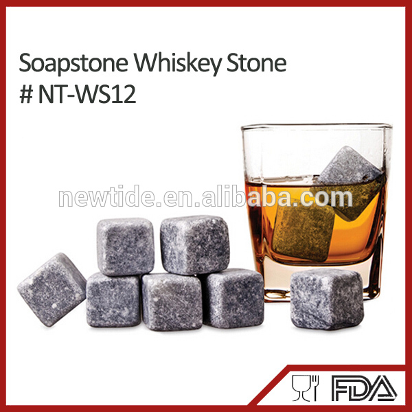 NT-WS12 Good Christmas gift promotional ice cube whisky stone for party