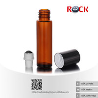 10ml amber glass bottle with roller ball and cap,glass essential oil bottle