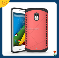 China wholesale! Factory price TPU+PC shield phone case cover for Moto X Play
