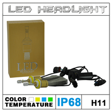 Super Bright Toyota Vios H4 H7 H9 H11 LED Headlight Replace Halogen Bulb