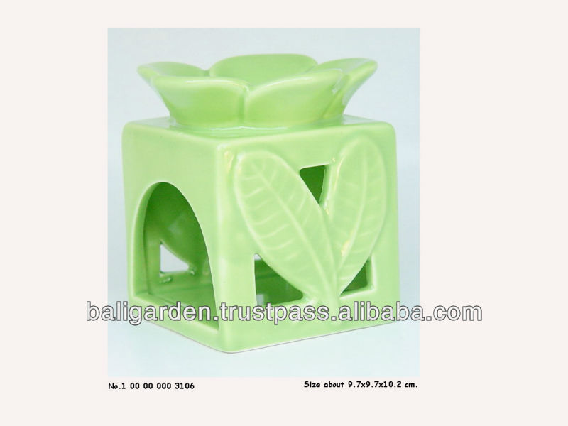 Ceramic Oil Burner Crafts green fusion Design fragrance tealight candle holder