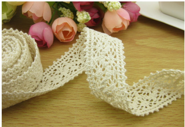 2013 Off White Lace High Quality Nice Cotton Trim Lace