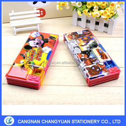 2016 Stationery Custom Mickey Pencil case,Promotion Plastic Pencil box