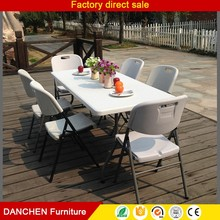 6ft plastic folding table hinges picnic table & chairs set