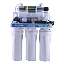 Whole sale 5 stage reverse osmosis purifier ro water filter system with UV lamp for home use