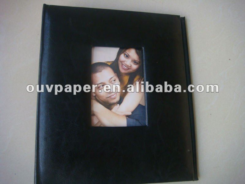 notebook leather cover with pocket for card or photos