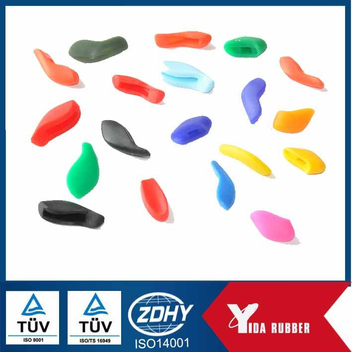 Custom Molded Rubber Silicone Parts Used for in Sports Glasses, Rubber Nose Pads