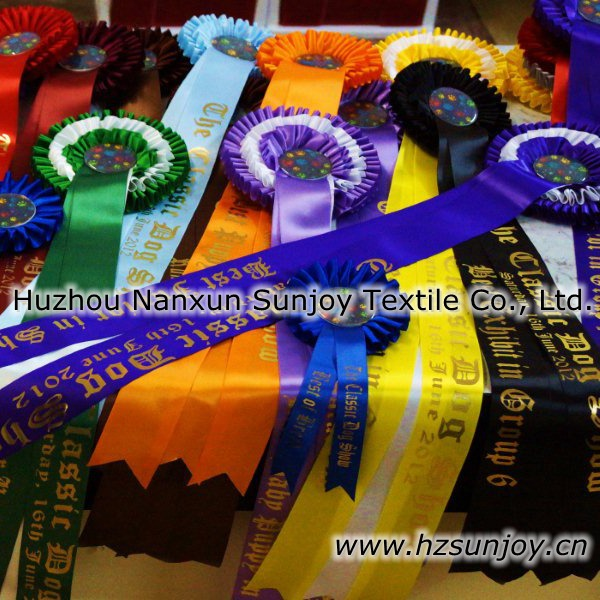 China Wholesale Award Ribbon Rosettes