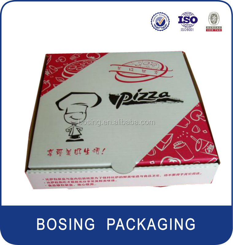 New design paper pizza packaging boxes