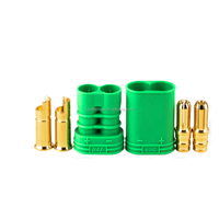 6.5mm male female Polarized Bullet Connector set with Green housing