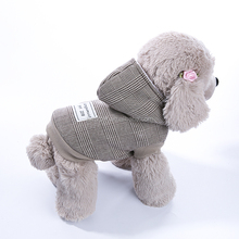 Hot Sale Small Dog Vest Reversible British Style Plaid Winter Coat Lattice Pet Accessories Dog Clothes