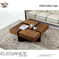 transforming square hand carved coffee table