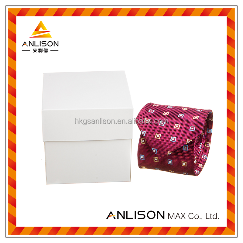 Cardboard gift custom packaging box for tie with clear window