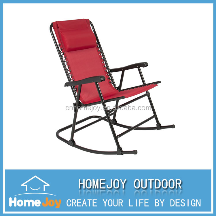 Outdoor Steel Frame Adults Folding Outdoor Rocking Chair For Sale