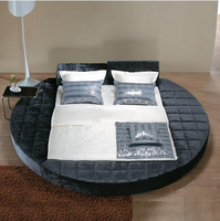 Big King Size fabric round bed on promotion B21
