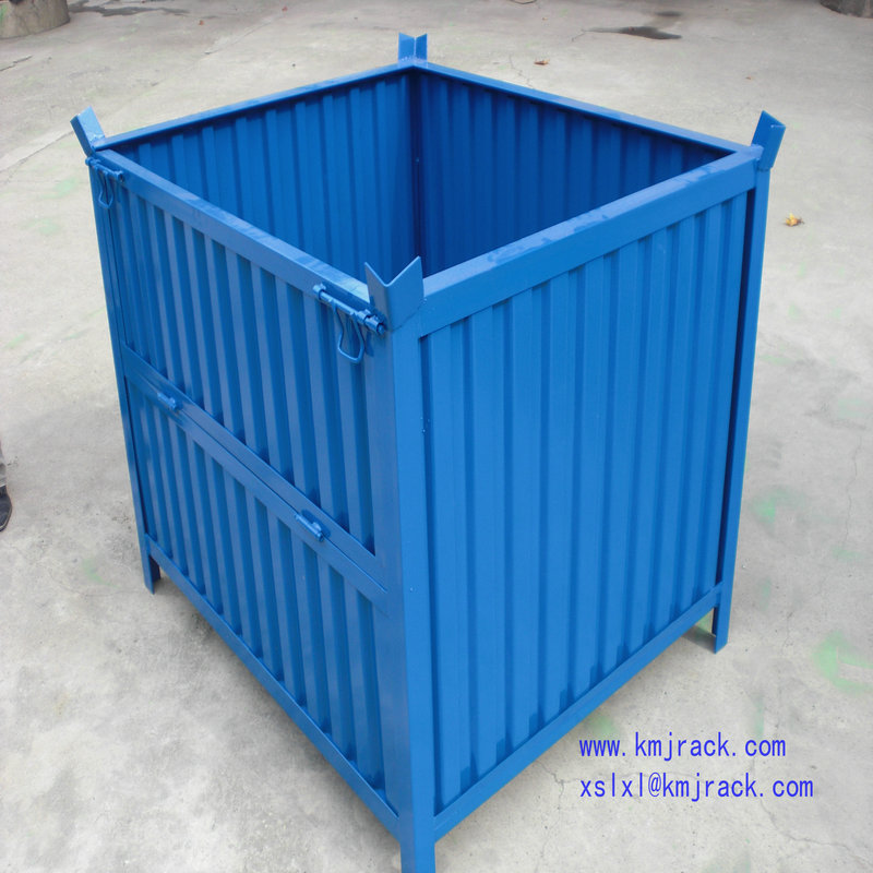 Steel Pallet Foldable Box Storage Container