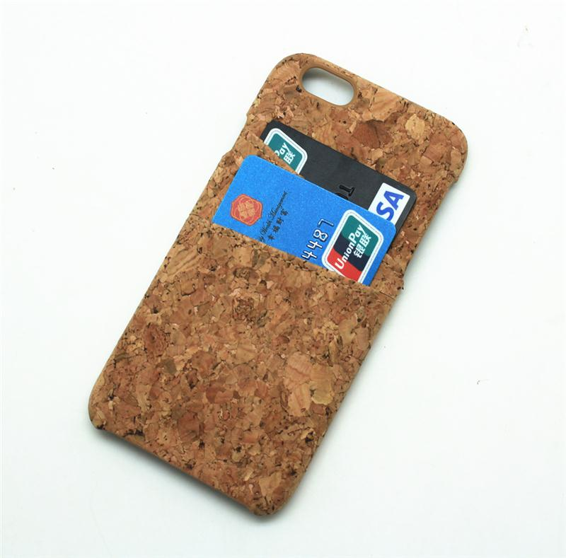 Cork Case silicone tpu cover case for iphone 4 4s 5 5s 6s 6plus