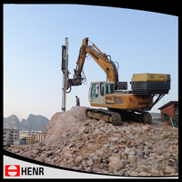Henr quarrying/mining/blasting hydraulic rock drill rig excavator