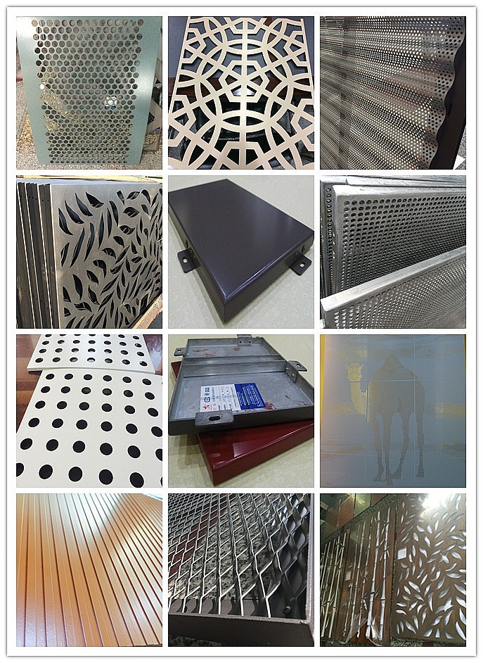 laser cut carved decorative screen aluminum panel for wall cladding