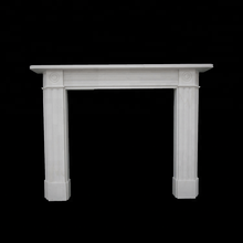 Home Decoration white marble carving bio ethanol stone mantels