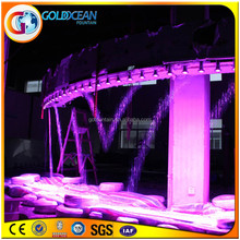 graphic waterfall Stage effect water curtain with led digital water curtain