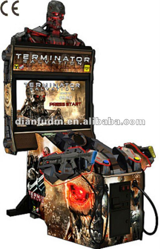 2014 hot sell Terminator Salvation video gun shooting arcade game machine