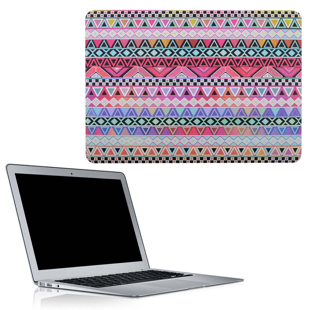 C&T Tribal Pattern Rubberized Hard Case Glossy Clear Crystal Hard Cover Case for MacBook Pro Retina